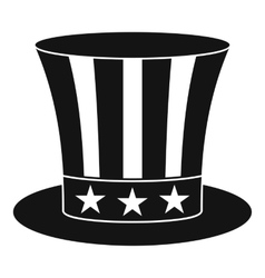 Uncle sam hat icon simple style vector image