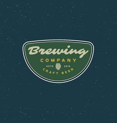 Vintage brewery logo retro styled beer emblem vector