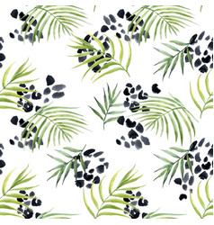 watercolor abstract tropical pattern vector image