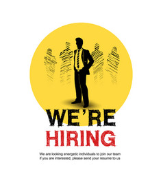 We are hiring concept design with chosen vector