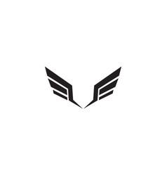Wings logo design inspiration template vector