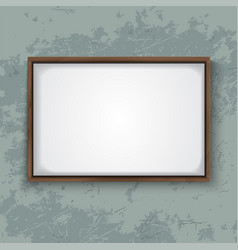 wooden frame on concrete wall vector image