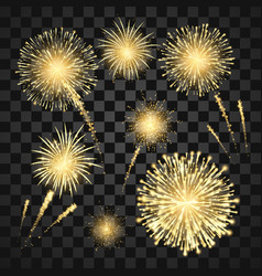yellow festival fireworks colorful carnival vector image