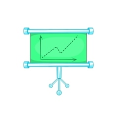 Board with statistics icon cartoon style vector image vector image
