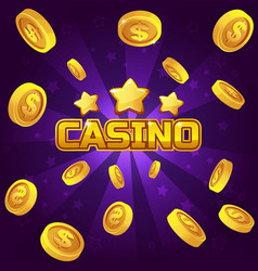 casino winner background gold coins vector image