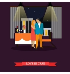 Celebrating romantic couple in restaurant vector image