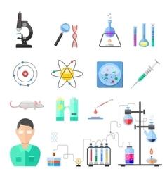 Laboratory symbols chemistry icons vector image vector image