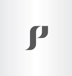 letter p black logotype icon p logo vector image