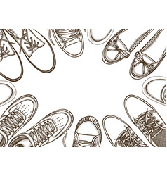 Sports sneakers vector
