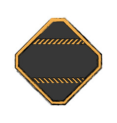 Under construction road sign vector