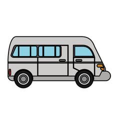 van transport vehicle urban vector image