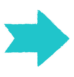 arrow sign sketch brushstroke vector image