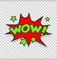 wow comic sound effects sound bubble speech with vector image