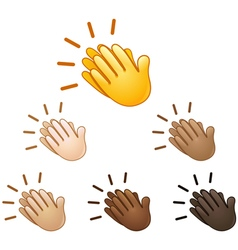 clapping hands sign emoji vector image