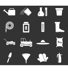 Gardening tools collection vector image vector image