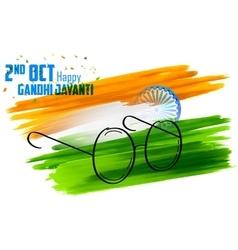 India background for gandhi jayanti vector