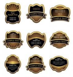 set of vintage gold labels vector image vector image