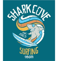 Shark cove surfing team vector image vector image
