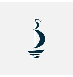 ship boat icon vector image vector image