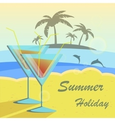 Summer holidays set with vector image