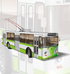 urban trolleybus vector image