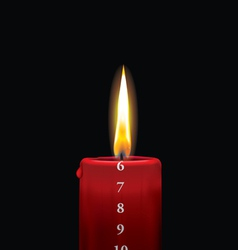 Advent candle red 6 vector image vector image