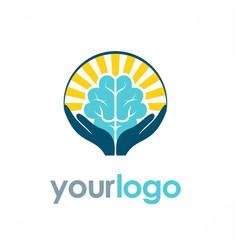 brain idea logo vector image