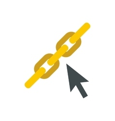 Chain links icon flat style vector image