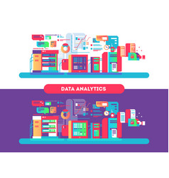 data analytics design flat vector image vector image