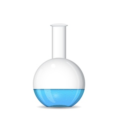 Flat bottomed chemical flask - lab glassware vector image vector image
