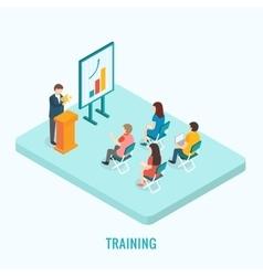 Isometric presentation training concept vector image