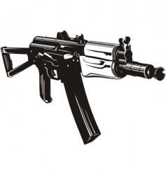 machine gun aks74u vector image vector image