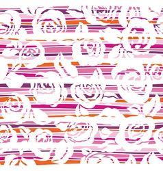 roses with stripes vector image vector image