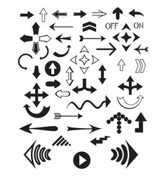 set of various arrows vector image