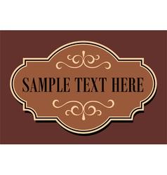 Vintage Sign vector image vector image