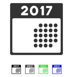 2017 month calendar flat icon vector