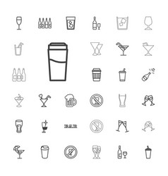 33 alcohol icons vector