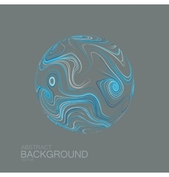 Abstract 3D curl sphere with swirled stripes vector image
