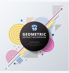 Abstract colorful color circle geometric pattern vector