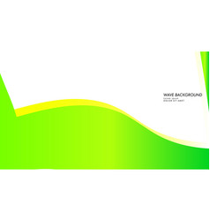 abstract wave background with green color and vector image