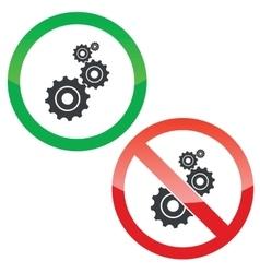 Adjust permission signs set vector