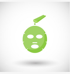 aloe vera facial mask flat icon vector image
