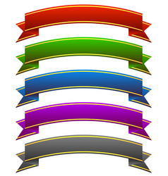 arching banners w golden stripes vector image