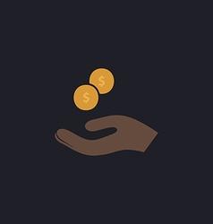 beggar computer symbol vector image