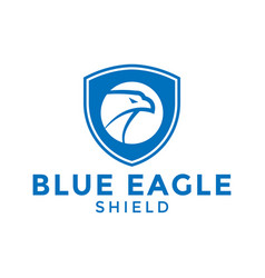 blue eagle shield logo icon design template vector image