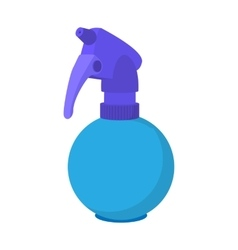 Blue plastic spray bottle cartoon icon vector