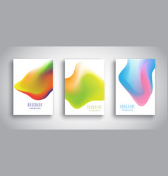 brochure templates with abstract 3d fluid designs vector image