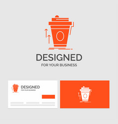 Business logo template for product promo coffee vector