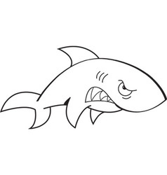 Cartoon Angry Shark vector image