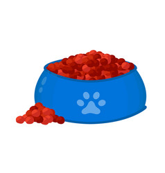catdog food feed in a bowl vector image